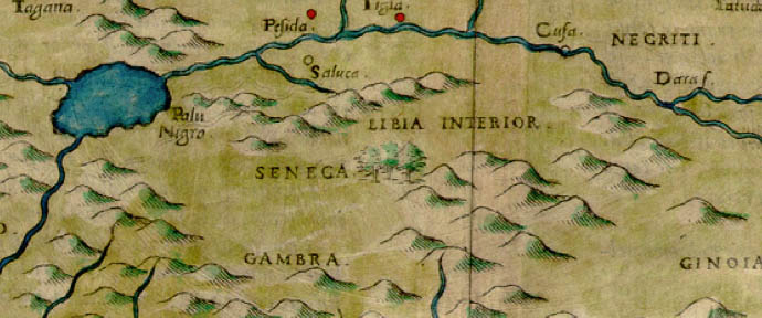 1561 Girolami Ruscelli map of West Africa