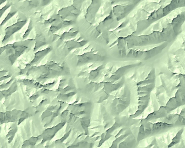 selectively blurred terrain