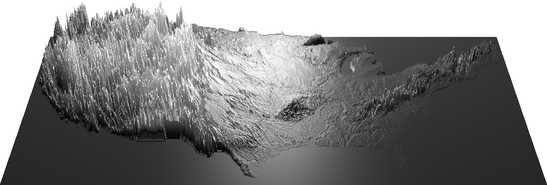 US heightmap, spiky