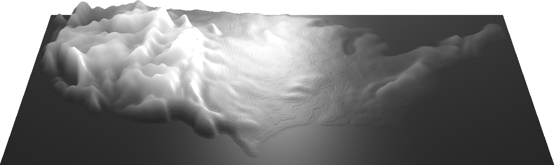blurry US heightmap