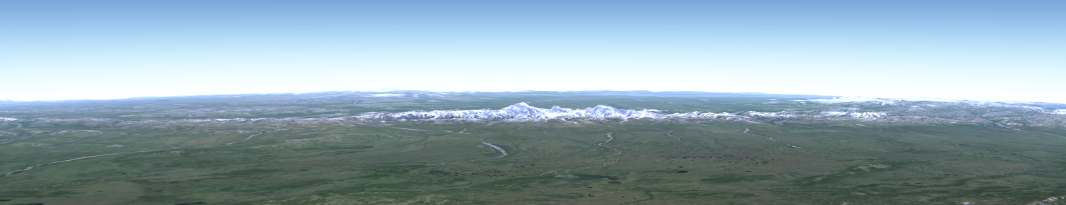 Denali region from a great distance